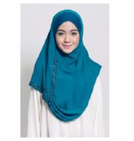 DANAH BEADS DOUBLE LOOP (INSTANT HIJAB) IN TURQUOISE