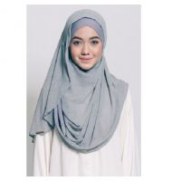 DANAH DOUBLE LOOP 1.0 (INSTANT HIJAB) IN GREY
