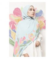 LE AMINAA SHAWL IN FROSTED MINT