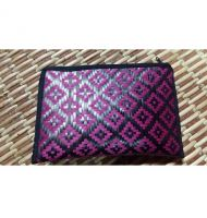 "Lumis Original Bamboo Wallet 4"" x 6\"" (Black + Purple)"