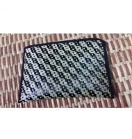 "Lumis Original Bamboo Wallet 4"" x 6\"" (Black + White)"